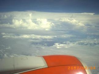 Pesawat Adam Air Tengah Mengudara