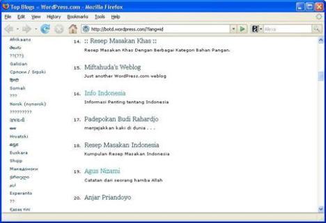 Blog InfoIndonesia dan AgusNizami mengapit blog pak Budi