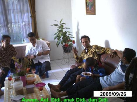 Aswan, Aat, Didi Junaedi dan anaknya, dan Didi