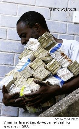 100 Trilyun Dolar Zimbabwe = US$ 5 (Rp 45.000)!