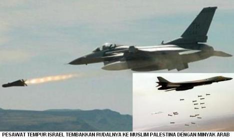 Pesawat Tempur Israel Melepas Rudal ke Palestina