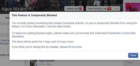 Diblokir FB