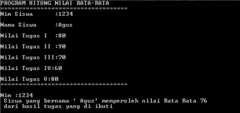 Menghitung Program Rata2